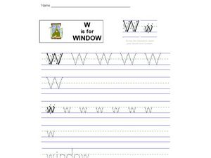W is for Window Worksheet