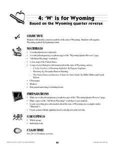 W Is For Wyoming Lesson Plan