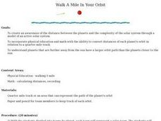 Walk a Mile in your Orbit Lesson Plan