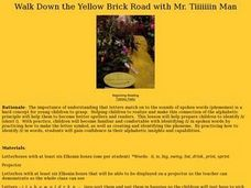 Walk Down the Yellow Brick Road with Mr. Tiiiiiiin Man Lesson Plan