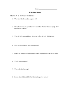 Walk Two Moons Chapters 17-18 6th - 10th Grade Lesson Plan ...