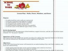 Walls, Floors, Windows, and Doors Lesson Plan