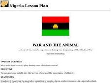 War and the Animal Lesson Plan