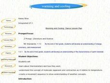 Warming and Cooling Lesson Plan