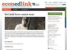 Was Babe Ruth Underpaid? Lesson Plan