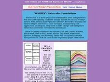 Washes, Watercolor Foundations: Art, Painting Lesson Plan