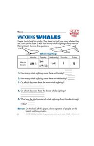 Watching Whales Lesson Plan