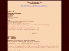 Water: Access and Use Lesson Plan