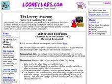 Water And EcoFluxx Lesson Plan
