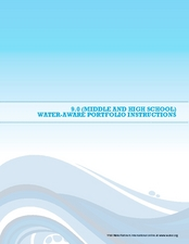 Water Awareness Portfolio Instructions Lesson Plan