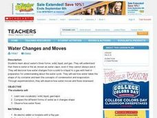 Water Changes and Moves Lesson Plan