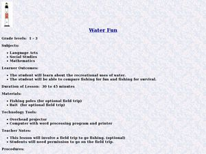 Water Fun Lesson Plan