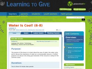 Water Is Cool! Lesson Plan