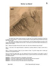 Water on Mars! Worksheet