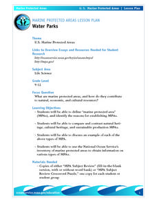 Water Parks Lesson Plan