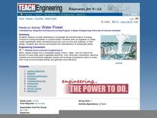 Water Power Lesson Plan