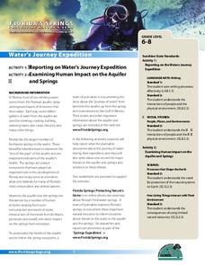 Water's Journey Expedition Lesson Plan