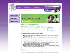 Water Safety Checklist Lesson Plan