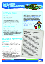 Water Saving Lesson Plan