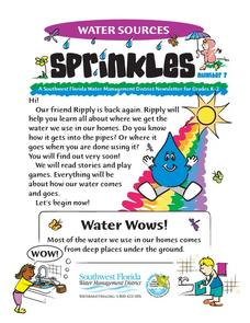 Water Sources Sprinkles, number 7 Worksheet
