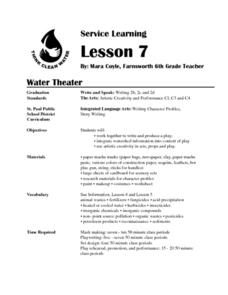 Water Theater Lesson Plan