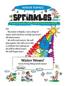 Water Topics Worksheet