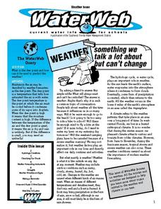 Water Web-- Weather: Something We Talk a Lot About But Can't Change Worksheet