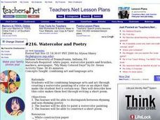 Watercolor and Poetry Lesson Plan