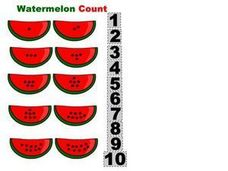 Watermelon Count Worksheet
