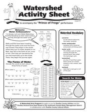 Watershed Activity Sheet Worksheet