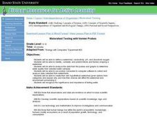 Watershed Testing with Vernier Probes Lesson Plan