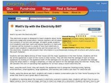 Watt's Up with the Electricity Bill? Lesson Plan