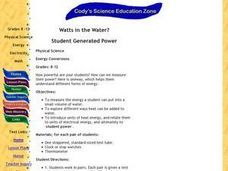 Watts in the Water? Lesson Plan