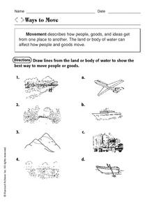 Ways to Move Worksheet