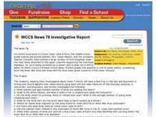 WCCS News 78 Investigative Report Lesson Plan