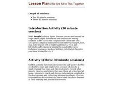 We Are All In This Together Lesson Plan