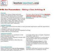 We Are Peacemakers ~ Making a Class Anthology Lesson Plan