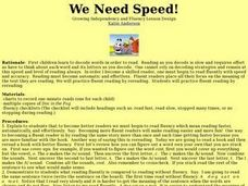 We Need Speed! Lesson Plan