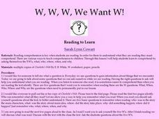 We Want W! Lesson Plan