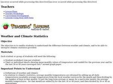 Weather and Climate Statistics Lesson Plan