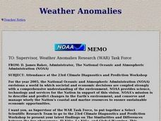 Weather Anomalies Lesson Plan