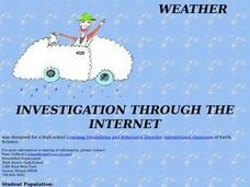 Weather Investigation Through The Internet Lesson Plan
