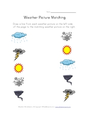 Weather Picture Matching Worksheet