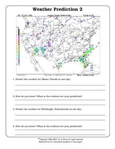 Weather Prediction 2 7th - 9th Grade Worksheet | Lesson Planet