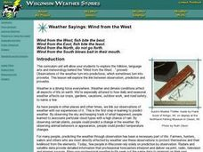 Weather Sayings: Wind from the West Lesson Plan