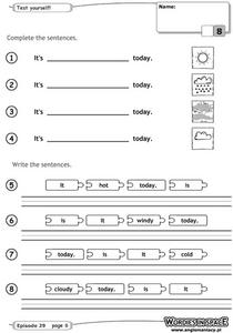 Weather Sentences Worksheet