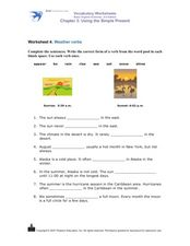 Weather Verbs Worksheet