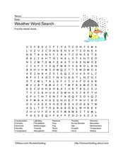 Weather Word Search Worksheet