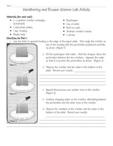 weathering and erosion science lab activity 4th 6th grade worksheet lesson planet. Black Bedroom Furniture Sets. Home Design Ideas