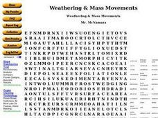 Weathering & Mass Movements Worksheet